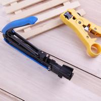Ferramentas 2pcs Coaxial Cable Crimp Alicate Fio Stripper cortador de fio de compressão de mão ajustados para Cabo coaxial RG-59 RG-6 RG-7 RG-11