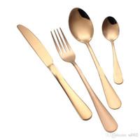 1шт Gold Metal Посуды Части Ножевые Многие Выберите Блестящий нож Краткое покрыло Flatware Вилка Ложка Аксессуары для кухни 3 4jy ZZ