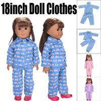 Nette Pyjamas für 18 Zoll unsere Generation Amerikanische Mädchen-Puppe Spielzeug für Mädchen für Puppen LOL