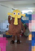 Elephant Mascotte Kostuums Geanimeerde Thema Dierlijke Cospalie Cartoon Mascotte Karakter Halloween Purim Party Carnaval Kostuum