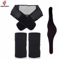 3 PCS / Set Tourmaline Auto-chauffage Magnétique Thérapie Genouillère Cou Ceinture et Retour Taille Soutien Brace Massager Protection Thermique