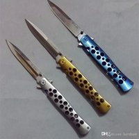 FRIO AÇO Ti-VIDA 26S azul de prata de ouro AUS-8 caixa de presente Folding Pocket Knife Camping Survival faca Xmas facas presente faca 1pcs