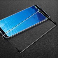 Samsung Galaxy S8 S9 Artı Not 8 9 Oppbag için 3D Full Tutkal adhensive Vaka Dostu temperli cam Telefon Ekran Koruyucu