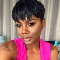 Bob Short Human Hair Wigs For Black Women Machine made Full ...