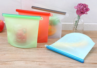 Reusable Silicone Vacuum Food Fresh Bags Wraps Fridge Food S...