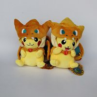 New Pikachu Cosplay Charizard Soft Toy Plush Doll Collection...