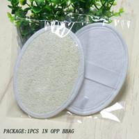 Tampons exfoliants en loofa - Matériaux organiques naturels en tissu éponge et luffa - Brosse de nettoyage éponge Loofa - Fermer la peau pour hommes et femmes lorsque le bain