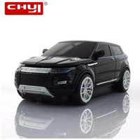 Chyi Wireless Mouse Sports Optical Black 2.4GHz SUV Auto Muizen Gaming Game Mause 1600DPI voor PC Laptop Computer
