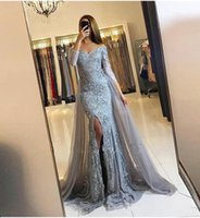 Elegant Off Shoulder Long Sleeve Mermaid Evening Dresses Sex...