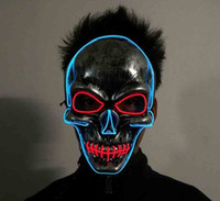 Led Mask Led Light Halloween Masquerade Masks Glowing Ghost ...