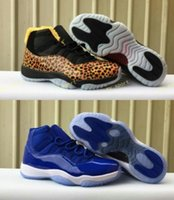 fashion 11 royal blue leopard print XI men basketball shoes ...