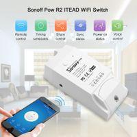 Contrôleur de commutateur Smart Wifi Sonoff Pow R2 avec moniteur de mesure de consommation d'énergie en temps réel 16A / 3500w Smart Home Device Via app