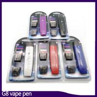 G8 vape kalem kiti Çift mermi düz duman 300 mAh ile 1 ml Pamuk çekirdek atomizer Vape kalem pil mod VS suorin bırak 0268084