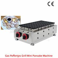 Machine à gaufres à gaz commercial Poffertjes Grill 50 trous 45x45mm en acier inoxydable Holland Mini-Crêpe