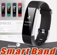 c963ab7e8225 2018 ID115 HR Plus Pulsera inteligente Monitor de ritmo cardíaco Rastreador  de ejercicios Pulsera Smartband Banda