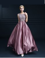 Stunning Rose Pink Sequined 2K19 Deep V neck Prom Dresses Se...
