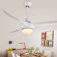 """52 inç LED Uzaktan Tavan Hayranları Minimalist Yemek odası oturma odası Modern Işık Dalga Uzaktan Kumanda ile 52"""" Tavan Fan Sarkıt"""