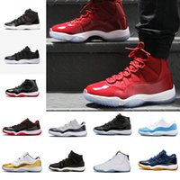 Wholesale Sneakers Cheap XI 11 LOW Bred Basketball Shoes Bla...