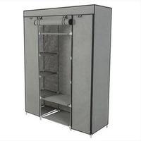 Pratico armadio portatile a 5 strati armadio armadio armadio standbobi con scaffali con scaffali