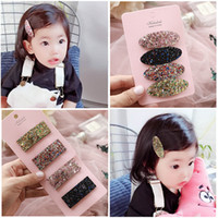 New Girl Hair Clips Fashion Korean glisten baby barrettes se...