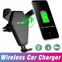 Fast Qi Wireless Car Charger Gravity Reaction Car mount Hold...
