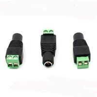 2.1 x 5.5mm DC Power Plug Connecteur BNC DC Adaptateur Femelle Adaptateur Alimentation Pour Caméra CCTV IP