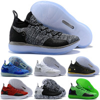 2018 KD 11 Shoes Black Grey Persian Violet Chlorine Blue Sne...