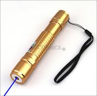 BX2-A 450nm 골드 조절 가능한 포커스 블루 레이저 포인터 레이저 토치 펜 보이는 레이저 빔