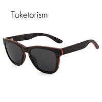 8f312e170c003 Toketorism homens óculos de sol de madeira do vintage polarizada handmade  skate zonnebril de madeira original
