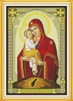 Мадонна ребенок 13 Иисус христианство декор картины, ручной вышивки крестом вышивка рукоделие наборы счетный печать на холсте DMC 14CT / 11CT