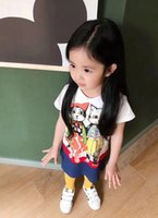 Retail princess New 2018 summer 1pcs baby girls lovely cloth...