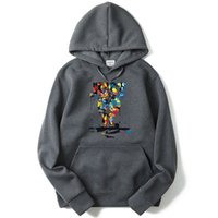2 Patten Types Mens Painting Letter Printed Sweatshirts Autu...