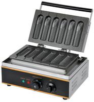 شحن مجاني الكهربائية 110V 220V شكل الذرة صانع الهراء اسكيمو الساخن الكلب الهراء عصا 6 قطع لوحة