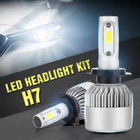 Super Bright Cob avec LED Kit voiture Projecteur système d'éclairage automatique H7, 200W 6000K 20000Lm voiture avec LED H7 étanche
