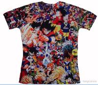 16451c97c9 Atacado frete grátis dos homens Naruto 3D T Camisa Dos Desenhos Animados  Anime Dragon Ball T-shirt de Impressão casa Roupas Harajuku One Piece  Camisetas ...