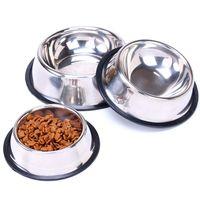 Cuenco de perro de acero inoxidable Mascotas de acero Cuadritos de perro para mascotas Cachorro Comida o bebida Cuenco de agua Plato