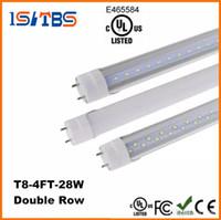 고품질 LED T8 튜브 4FT 22W 28W SMD2835 192LEDS 라이트 램프 전구 4 피트 1.2m 더블 행 85-265V 주식