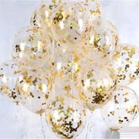12inch 클리어 로즈 골드 라운드 스타 호일 색종이 라텍스 풍선 결혼 생일 크리스마스 swnflake 색종이 헬륨 공 장식 선물