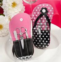 Flip Flop Manicure Set BridalWedding Dusch Beauty sätter bröllop favoriserar och gåva till gäst