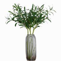 نباتات اصطناعية غصن الزيتون ، خضرة اصطناعية ، لمسة حقيقية ، نبات أخضر ، أوراق زيتون ، زهور اصطناعية ، لفازية ، ديكورات منزلية للزفاف