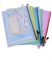 1 قطع للماء البلاستيك سستة ورقة ملف مجلد كتاب قلم رصاص القضية حقيبة وثيقة حقيبة ملف ل مكتب طالب لوازم شحن مجاني 2018