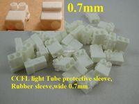Livraison gratuite 500pcs / lot CCFL light Manchon de protection pour tube Manchon en caoutchouc pour cadre large 7mm, 15set = 30 pièces / lot