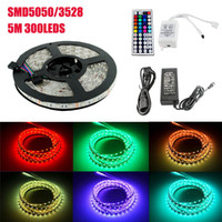 5050 RGB LED Strips Lights SMD 300 LED 60LED M Flexible LED ...