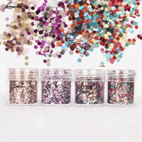 Venta al por mayor - 1 caja 10ml Gradiente Nail Art Glitter Tips brillante Color mezclado DIY Decoración M02746