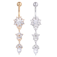 D0684-2 (2 colori) Bel Stili Clear Color Color Belly Belly Bully Anello Piercing Body Jewlery 1.6 * 11 * 5/8