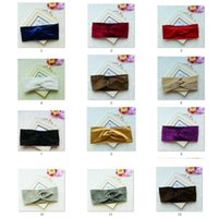 26 Couleurs Femmes Velet Turban Head Wrap Hairband Hiver Oreille Bandeau Solide Couleur Cross Hair Band Accessoire De Cheveux CCA9080 120pcs