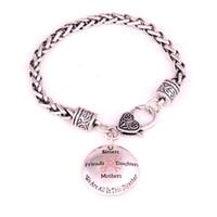 Sensibilisation au cancer du sein Sœurs Ruban Rose Amis Filles Mères Nous sommes dans cet ensemble Ensemble de maillons de blé Bracelets à mailles en cuir