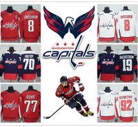 61fbf65d704 New Arrival. 2018 NEW Washington Capitals 8 Alex Ovechkin 77 TJ Oshie 92  Evgeny Kuznetsov 19 Backstrom 70 Holtby ICE Hockey JERSEYS ...
