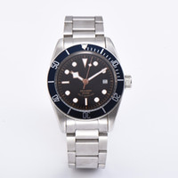corgeut sapphire glass wrist watch 41mm black bay black dial...