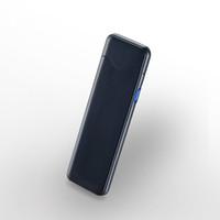 MG520 얇은 5.5mm 양면 지문 점화 시가 라이터 USB 방풍 전자 터치 센싱 담배 라이터
